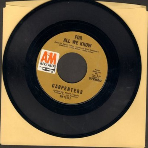 Carpenters - For All We Know/Don't Be Afraid - NM9/ - 45 rpm Records