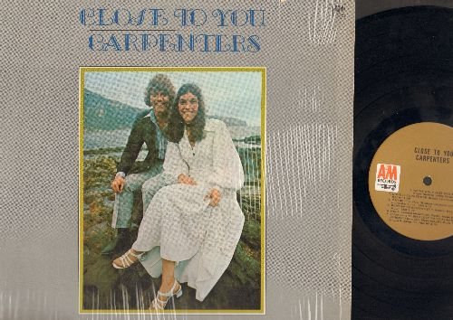 Carpenters - Close To You: We've Only Just Begun, Help!, Baby It's You, I'll Never Fall In Love Again (vinyl STEREO LP record) - EX8/VG7 - LP Records