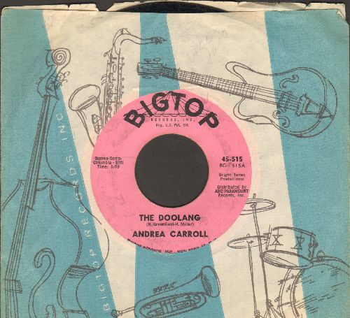 Carroll, Andrea - The Doolang/This Time Tomorrow (with vintage Big Top company sleeve) - VG7/ - 45 rpm Records