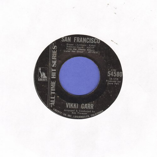 Carr, Vikki - San Francisco/With Pen In Hand (double-hit re-issue) - EX8/ - 45 rpm Records