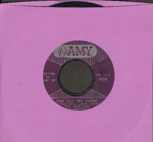 Caslons - For All We Know/Settle Me Down - G5/ - 45 rpm Records