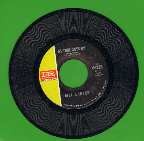Carter, Mel - As Time Goes By (Play It Again, Sam)/Look To The Rainbow - EX8/ - 45 rpm Records