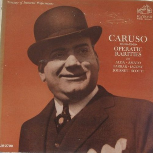 Caruso, Enrico - Caruso - Operatic Rarities: Re-issue of vintage recordings by the Great Tenor (vinyl MONO LP record, Red Seal Pressing) - M10/VG7 - LP Records