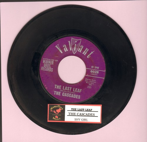 Cascades - The Last Leaf/Shy Girl (with juke box label) - EX8/ - 45 rpm Records