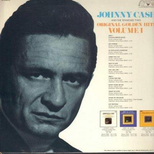 Cash, Johnny - Original Golden Hits Volume I: Folsom Prison Blues, I Walk The Line, Train Of Love, Get Rhythm, Home Of The Blues (vinyl STEREO LP record) - EX8/VG7 - LP Records