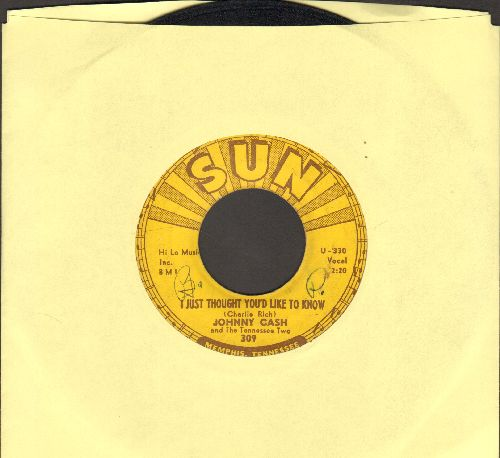 Cash, Johnny - I Just Thought You'd Like To Know/It's Just About Time (wol) - VG6/ - 45 rpm Records