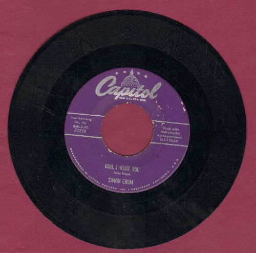 Crum, Simon - A Hillbilly Deck Of Cards/Ooh, I Want You - VG7/ - 45 rpm Records