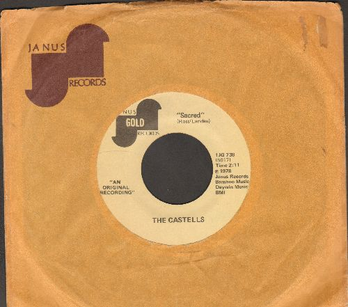 Castells - Sacred/So This Is Love (early double-hit re-issue, with Janus company sleeve) - NM9/ - 45 rpm Records