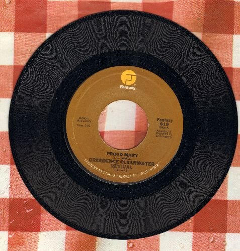 Creedence Clearwater Revival - Proud Mary/Born On The Bayou (brown label) - NM9/ - 45 rpm Records