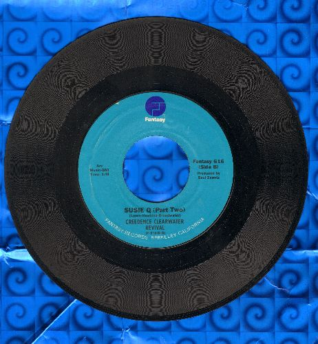 Creedence Clearwater Revival - Suzie Q. (Parts 1 + 2) (blue label second pressing) - EX8/ - 45 rpm Records