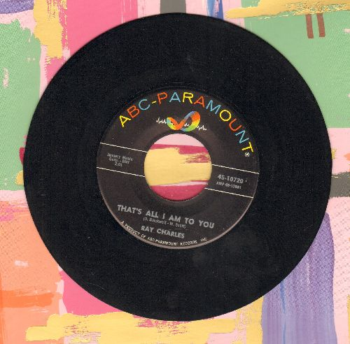 Charles, Ray - That's All I Am To You/The Cincinnati Kid - EX8/ - 45 rpm Records