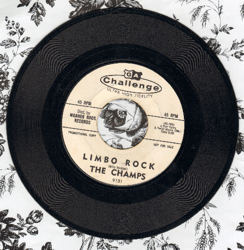 Champs - Limbo Rock (double-A-sided DJ advance pressing) - EX8/ - 45 rpm Records