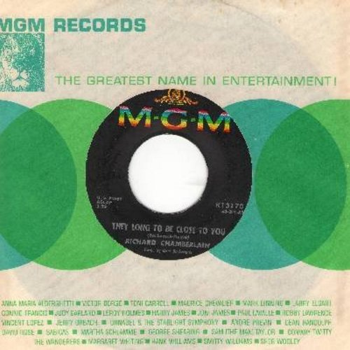 Chamberlain, Richard - They Long To Be Close To You/Blue Guitar - VG6/ - 45 rpm Records