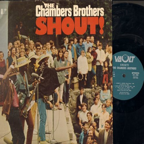 Chambers Brothers - Shout!: Johnny B. Goode, There She Goes, So Fine (vinyl STEREO LP record) - NM9/EX8 - LP Records