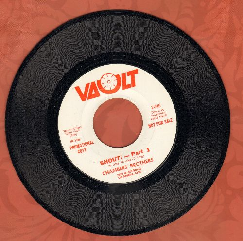 Chambers Brothers - Shout! (Parts 1 + 2) (DJ advance pressing) - M10/ - 45 rpm Records