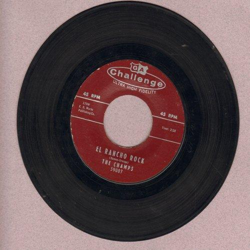 Champs - El Rancho Rock/Midnighter - EX8/ - 45 rpm Records