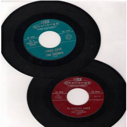 Champs - 2 for 1 Special: Limbo Rock/El Rancho Rock (2 vintage first issue 45rpm records for the price of 1!) - EX8/ - 45 rpm Records
