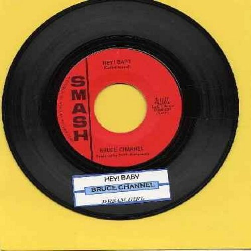 Channel, Bruce - Hey! Baby/Dream Girl (with juke box label) - EX8/ - 45 rpm Records