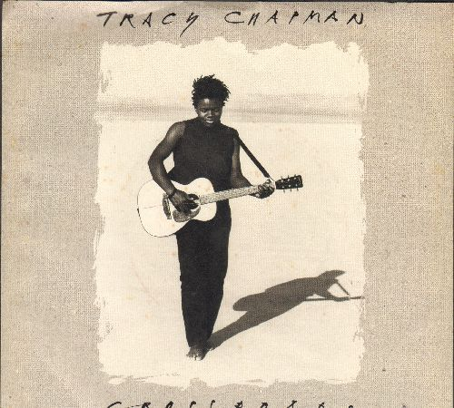 Chapman, Tracy - Crossroads/Born To Fight (with picture sleeve) - NM9/NM9 - 45 rpm Records