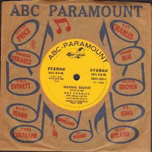 Charles, Ray - Making Believe/Don't Tell Me Your Troubles (RARE 7 inch 33rpm STEREO issue with small spindle hole and vintage ABC-Paramount company sleeve) - EX8/ - 45 rpm Records