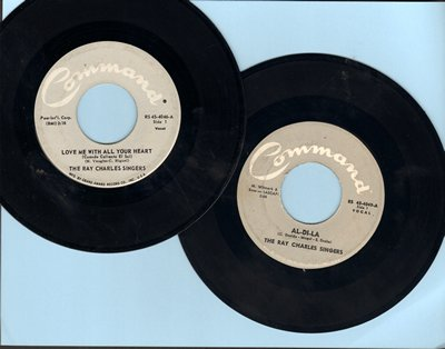Charles, Ray Singers - 2 for 1 Special: Love Me With All Your Heart/Al-Di-La (2 vintage first issue 45rpm records for the price of 1!) - EX8/ - 45 rpm Records