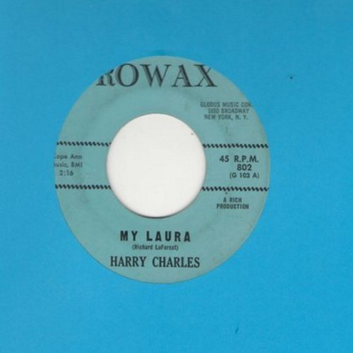 Charles, Harry - My Laura/Challenge Of Love - EX8/ - 45 rpm Records