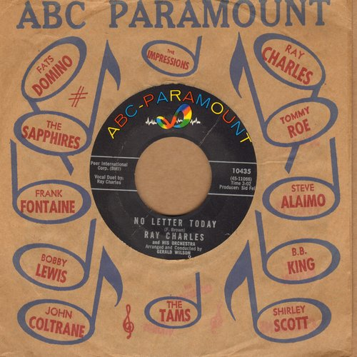 Charles, Ray - No Letter Today/Take These Chains From My Heart (with ABC-Paramount company sleeve) - NM9/ - 45 rpm Records