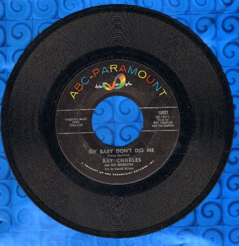 Charles, Ray - My Baby Don't Dig Me/Something's Wrong  - EX8/ - 45 rpm Records