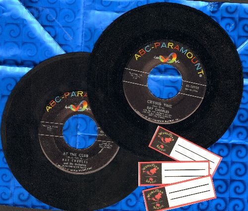 Charles, Ray - 2 for 1 Special: Crying Time/At The Club (2 vintage first issue 45rpm records for the price of 1! - Shipped in plain white paper sleeves with 3 blank juke box labels) - EX8/ - 45 rpm Records