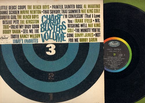 Beach Boys, Wayne Newton, Nat King Cole, others - Chart Busters Vol. 3: Surfer Girl, Danke Schoen, That Sunday That Summer, Little Deuce Coupe (vinyl MONO LP record) - EX8/VG6 - LP Records