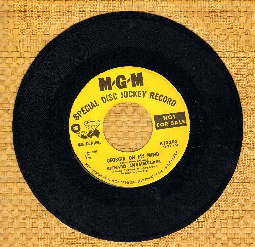 Chamberlain, Richard - Georgia On My Mind/Stella By Starlight (DJ advance pressing) - NM9/ - 45 rpm Records