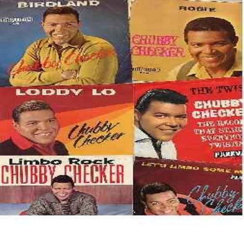 Checker, Chubby - Picture Sleeves with Original 45s - 6 pack of Chubby Checker hit-45s with picture sleeves. All vinyl and sleeves are in very good or better condition. - VG6/NM9 - 45 rpm Records