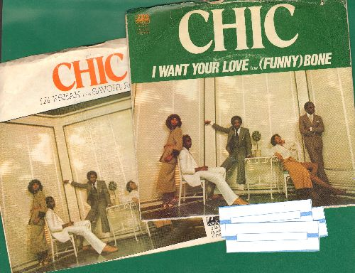 Chic - 2 for 1 Special: Le Freak/I Want Your Love (2 first issue 45rpm records with picture sleeves for the price of 1!) - EX8/VG7 - 45 rpm Records