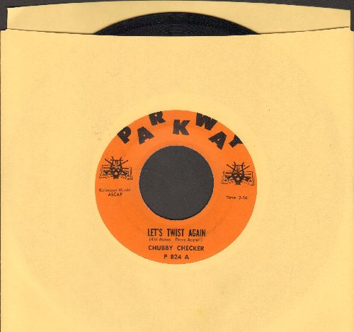 Checker, Chubby - Let's Twist Again/Everything's Gonna Be All Right (orange label first pressing) - EX8/ - 45 rpm Records