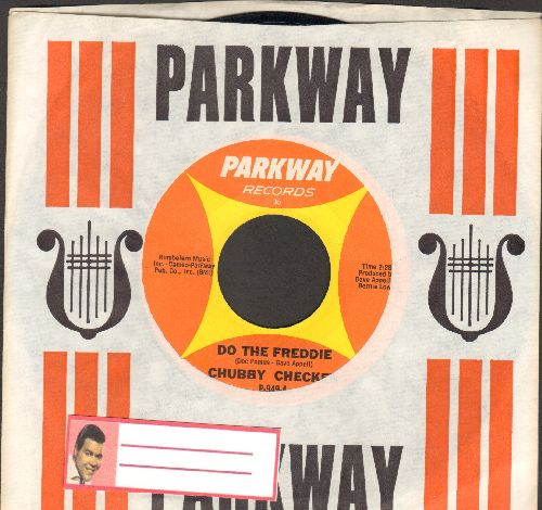 Checker, Chubby - Do The Freddie/(At The) Discoteque (RARE Pressing labeled DO THE FREDDIE, not Let's Do The Freddie or The Freddie, with vintage Parkway company sleeve!) - NM9/ - 45 rpm Records