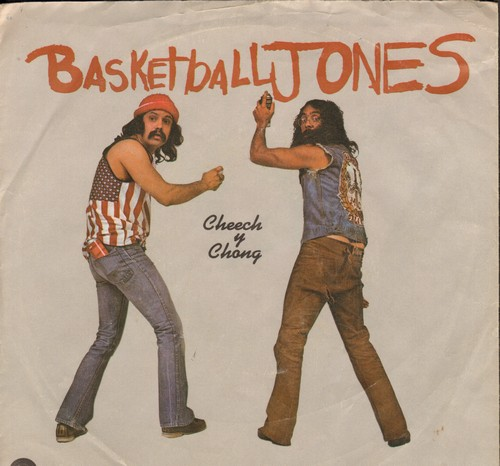 Cheech & Chong - Basketball Jones Featuring Tyrone Shoelaces/Don't Bug Me (with picture sleeve) - EX8/VG7 - 45 rpm Records