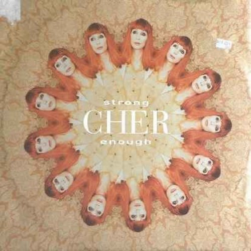 Cher - Strong Enough: 12 inch 33rpm vinyl maxi single - includes Club 69 Future Anthem Short Mix (8:56 minutes), Marc Andrews Remix (7:55 minutes) and Club 69 Future Anthem Instrumental (11 minutes!) - NM9/EX8 - Maxi Singles
