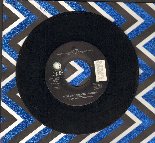 Cher - Love And Understanding/Trail Of Broken Hearts (with juke box label) - NM9/ - 45 rpm Records