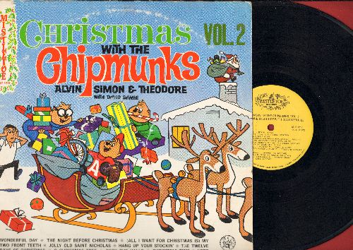 Chipmunks - Christmas With The Chipmunks Vol. 2: Jingle Bell Rock, Have Yourself A Merry Little Christmas, 12 Days Of Christmas, Deck The Halls (vinyl STEREO LP record) - EX8/VG6 - LP Records