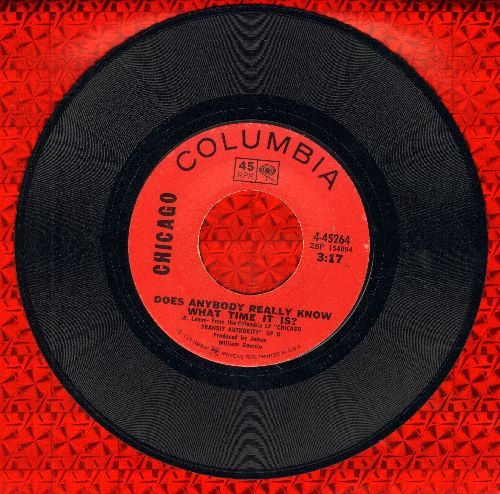 Chicago - Does Anybody Really Know What Time It Is?/Listen - EX8/ - 45 rpm Records