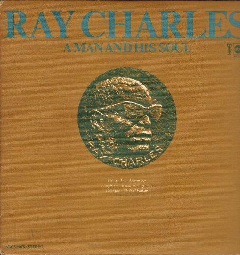 Charles, Ray - A Man And His Soul: I Can't Stop Loving You, What'd I Say, Ol' Man River, Crying Time, Busted, Hit The Road Jack (vinyl STEREO LP record, 2 vinyl STEREO LP records, gate-fold cover) - EX8/EX8 - LP Records
