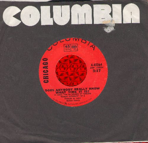 Chicago - Does Anybody Really Know What Time It Is?/Listen (with Columbia company sleeve) - NM9/ - 45 rpm Records