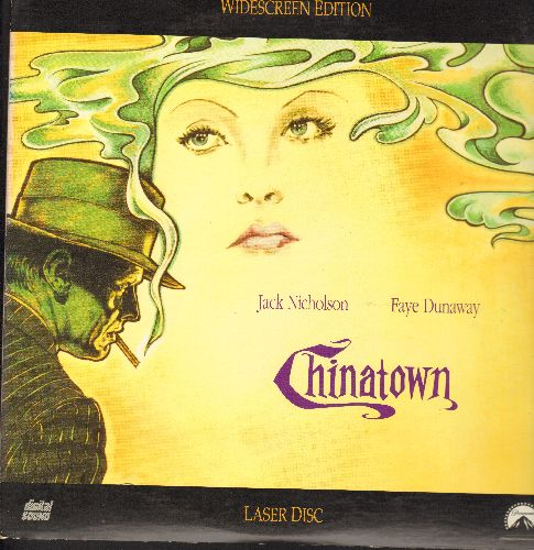 Chinatown - Chinatown: BEST Screenplay Oscar Winner starring Jack Nicholson and Faye Dunaway on 2 LASER DISCS, gate-fold cover, Widescreen Edition! (These are LASER DISCS, not any other kind of media!) - NM9/NM9 - Laser Discs