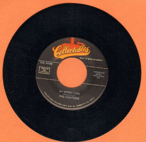Chiffons - My Sweet Lord/Tonight I Met An Angel (double-hit re-issue) - NM9/ - 45 rpm Records