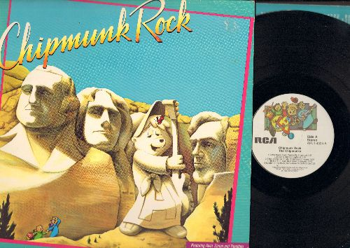 Chipmunks - Chipmunk Rock: Bette Davis Eyes, Hit Me With Your Best Shot, Leader Of The Pack, Heartbreaker, Jessie's Girl, Take A Chance On Me (vinyl STEREO LP record, gate-fold cover) - EX8/EX8 - LP Records