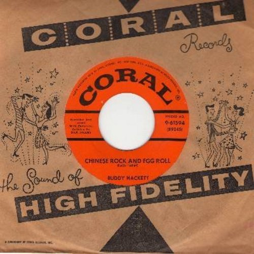 Hackett, Buddy - Chinese Rock And Egg Roll/Ting Me A Tong (with vintage Coral company sleeve) - EX8/ - 45 rpm Records