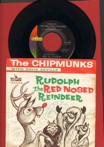Chipmunks - Rudolph The Red Nosed Reindeer/Spain (with RARE picture sleeve) - NM9/VG7 - 45 rpm Records