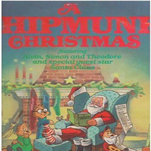 Chipmunks - A Chipmunk Christmas: Sleigh-Ride, Have Yourself A Merry Little Chritmas, Chipmunk Song, Here Comes Santa Claus (vinyl STEREO LP record, gate-fold cover with lyrics) - NM9/EX8 - LP Records