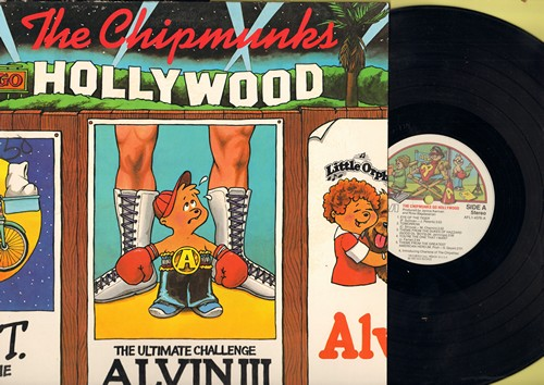 Chipmunks - The Chipmunks Go Hollywood: Eye Of The Tiger, You're The One That I Want, 9 To 5, E.T. And Me, Fame (vinyl STEREO LP record) - EX8/VG7 - LP Records