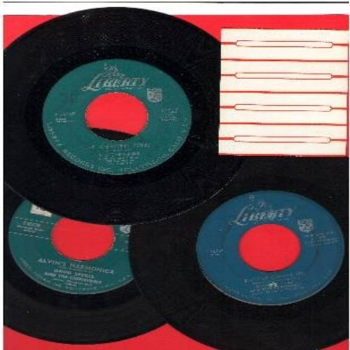 Chipmunks - Chipmunks 3-Pack: Original first issue 45s in very good or better condition. Hits include The Chipmunk Song, Alvin's Harmonica and Ragtime Cowboy Joe. Shipped in plain white paper sleeves with 4 blank juke box labels. GREAT for a Juke Box! - V